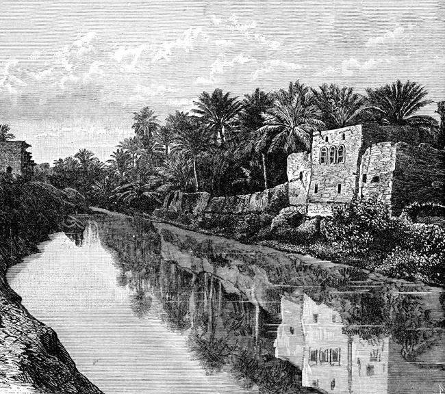 Ancient Mesopotamia - Canal at Bassorah