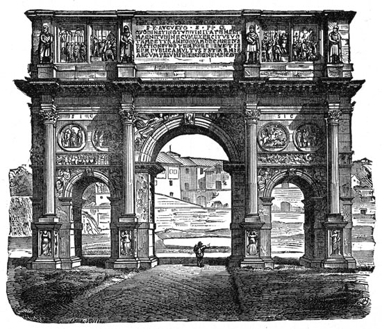 Ancient Roman Architecture - Arch of Constantine