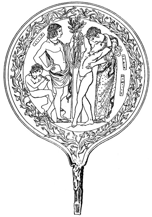 Ancient Roman Gods - Bacchus Embracing Semele