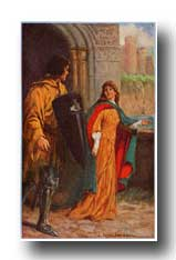 Arthurian Legend Camelot - Sir Brune Followed the Damsel out of the Hall