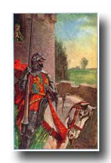 Arthurian Legend Camelot - Sir Lancelot Rode Sadly Away and Did Not Look up at Elaine