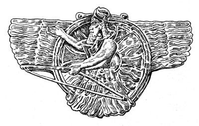 Assyria - Emblem of Ashur, Supreme Diety of Assyria