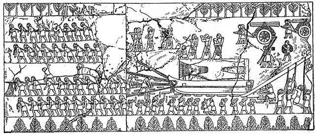 Assyrian Empire - Transport of the Winged Bull