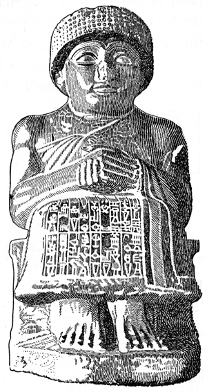 Babylon - Dorite Seated Statue of Gudea