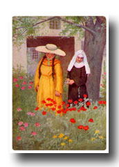 Canterbury Tales Characters - The Wife of Bath and the Prioress at Canterbury
