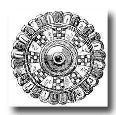 Celtic Clip Art - Ornament from the Merovingian Period