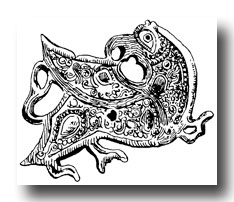 Celtic Clip Art -Ornament from the Merovingian Period