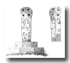 Celtic Cross Drawings - Boconnoc, No. 3, in Boconnoc Park