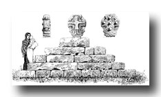 Celtic Cross Drawings - St. Buryan, No. 2, in the Churchyard