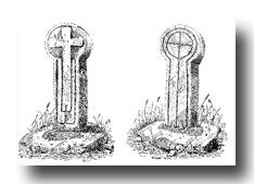 Celtic Cross Drawings - Pradannack Cross, Mullyon