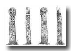 Celtic Cross Drawings - Scorrier, No. 2, St. Day