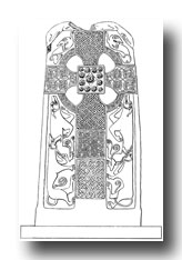 Celtic Cross - Erect Cross-Slab at St. Madoes, Perthsire