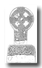 Celtic Cross - Great Wheel-Cross of Conbelin at Margam Abbey, Glamorganshire