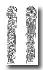 Celtic Crosses - Front and Back of Cross at Neuadd Siarman, Near Builth, Brecknockshire