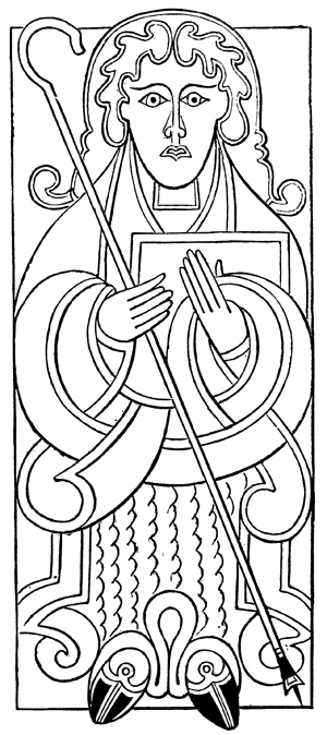 Celtic Graphics - St. Matthew from the Gospels of Mac Durnan