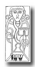 Celtic Graphics - St. Luke from the Gospels of Mac Durnan