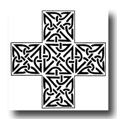 Celtic Knot Designs - Triangular Knotwork from Ulbster, Caithness