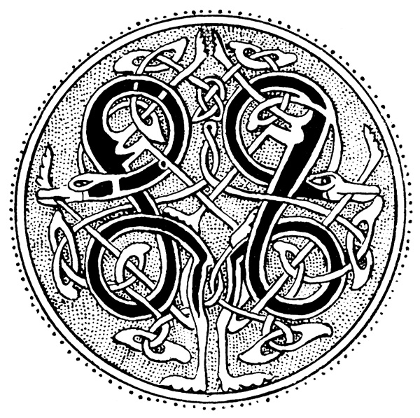 Celtic Knot Patterns - Speciman of Manuscript Paining from the 10th Century