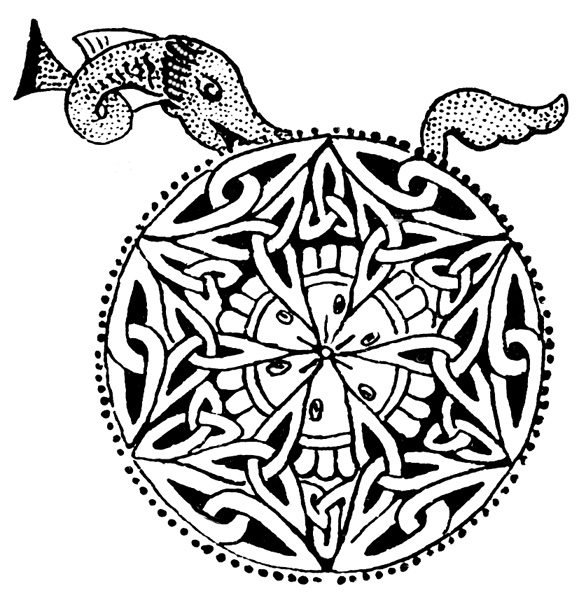 Celtic Knot Patterns - Manuscript Painting from the 8th Century