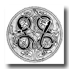Celtic Knot Patterns - Speciman of Manuscript Painting from the 10th Century