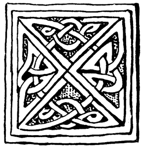 Celtic Knotwork - Ornament from the Socle of a Cross