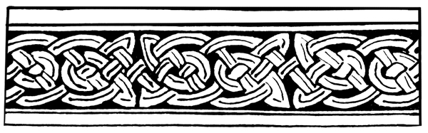 Celtic Knotwork - Speciman from Manuscript Painting from the 7th Century
