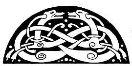 Celtic Symbols - Interlaced Animals from the Book of Kells