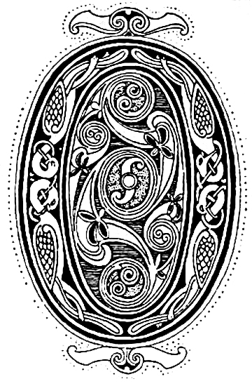Celtic Symbols :: Interlaced Animals from the Book of Kells