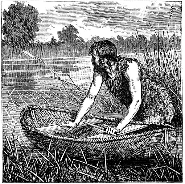 Celts - Briton with Coracle
