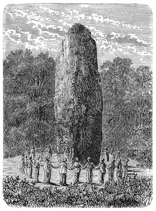 Celts - Druidesses Dancing Round a Menhir