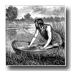Celts - Briton with a Coracle
