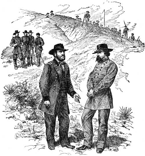 Civil War Battles - Grant and Pemberton - Capitulation of Vicksburg
