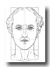 Create a Human Face - Figure to Show Proportions of Neck and Face