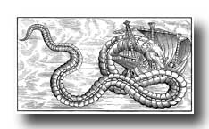 Dragon Sketches - Sea Serpent Attacking a Vessel