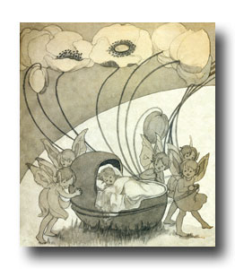 Drawings of Children - Image 7 :: Fairies and a Sleepy Baby