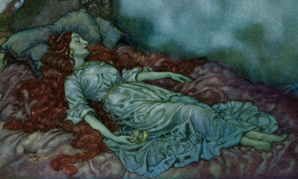 Dulac Illustrations :: The Sleeper Close-Up