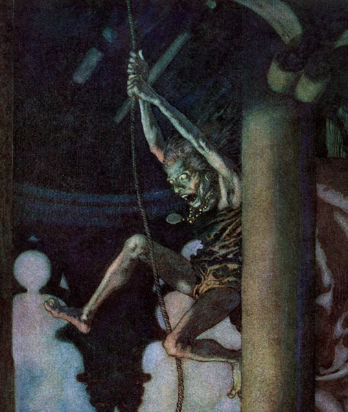 Edmund Dulac :: Close-up from The Bells