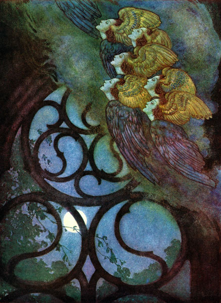 Edmund Dulac :: Angels from The Bells