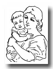 Free                   Baby Clipart :: Mother and Child