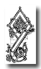 Free Celtic Designs - Initial from Psalter, 11th Century