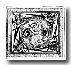 Free Celtic Designs - Speciman from Manuscript Painting of Celtic-Anglo-Saxon Origin