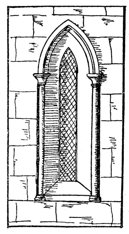 Gothic Architecture Single Window
