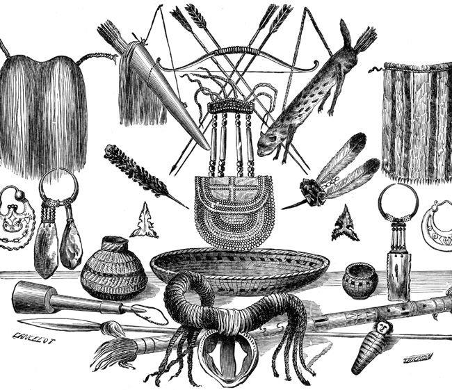 Indian Artifacts - Arms, Ornaments, and Utensils