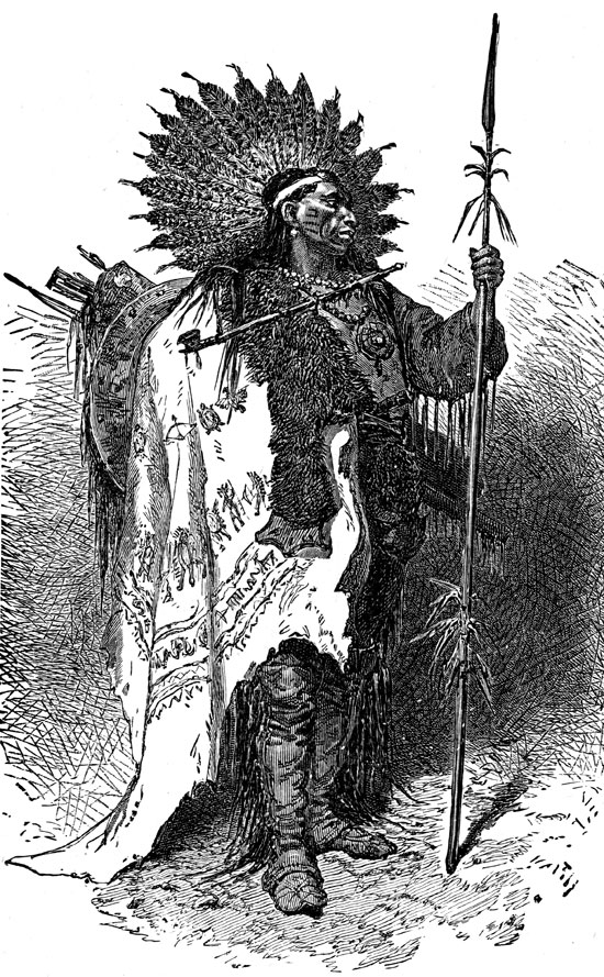 Indian Chiefs - Crow Chief in War Costume