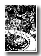 King Arthur - He Dismounted and Poured Water into the Fountain