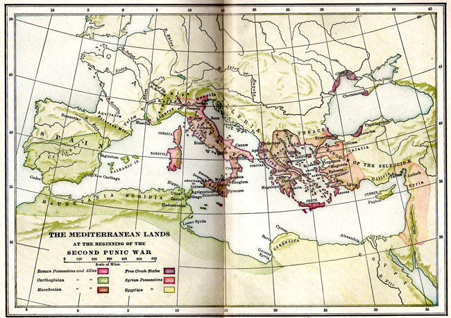 Map of the Mediterranean Lands