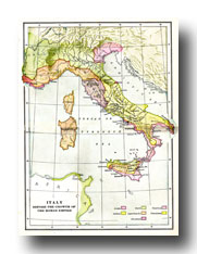 Maps of Ancient Rome - Map of Italy Before the Roman Empire