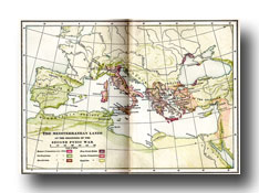 Maps of Ancient Rome - Map of the Mediterranean Lands