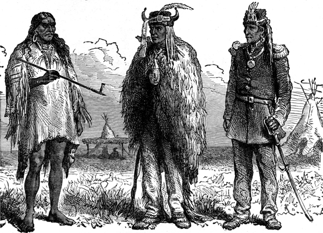 Native American Indians - Sketch from Fort Laramie