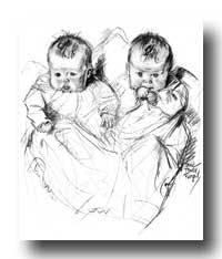 New Baby Clipart :: Twin Babies